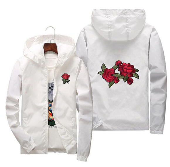 men women jacket windbreaker rose jackets