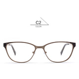 bauhaus France Design Full Rim Spectacles Beauty Eyewear Metal Optical Eyeglasses  Decorate Optics Myopia Cat Eye Glasses Frames