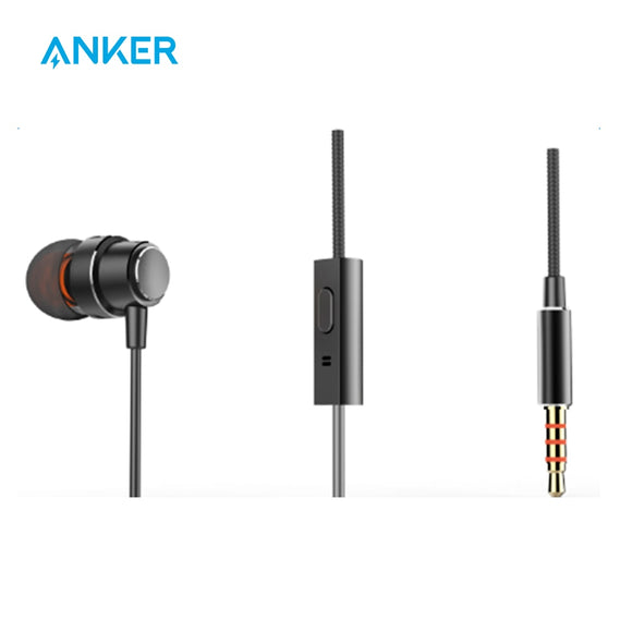 Anker Soundbuds Mono 3.5mm Unilateral Earphone Premium Metal Finishing With Superior Sound and Voice Quality