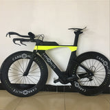Stock Only 1 TT Complete Bike Time Triathlon Carbon Bicycle Frame+TT Carbon Handlebar+88mm Carbon Wheel+R8000 Group+Saddle+Pedal