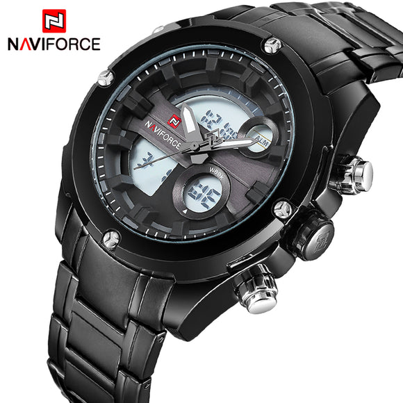 NAVIFORCE NEW Top Luxury Brand Men Waterproof Sports Watches Men's Quartz Analog LCD Wrist Watch Man Clock relogio masculino