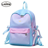 Fashion Gradient Color Desgin Student's School Bag High Quality Waterproof Oxford Girl's School Backpack Satchel Book School Bag