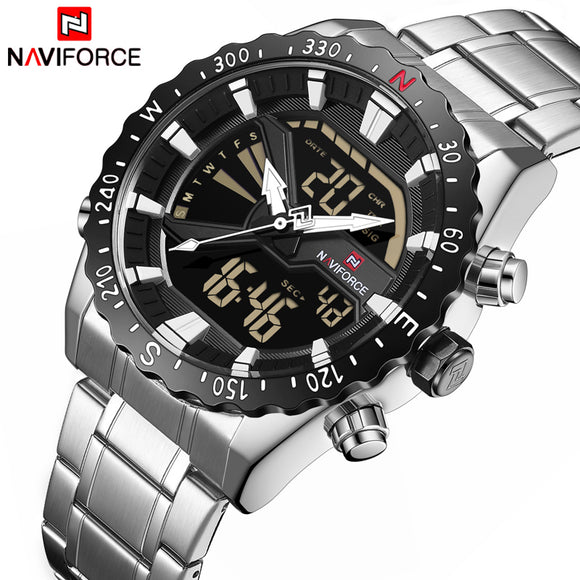 Top Luxury Brand NAVIFORCE Men Sport Military Watches Men's Quartz Clock Analog Digital Waterproof Wrist Watch relogio masculino