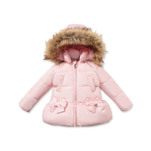 DB975-N dave bella  winter baby girl coat white duck down padded jacket