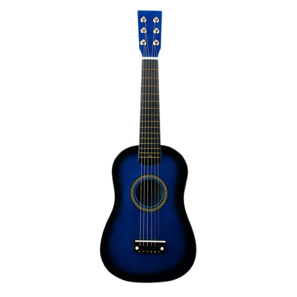 FSTE-IRIN Mini 23 Inch Basswood 12 Frets 6 String Acoustic Guitar with Pick and Strings for Kids / Beginners
