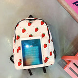 Canvas School Backpack Girl Student Book Bag High Quality School Bag For Girls Teenager Printing Women Backpacks WBS487