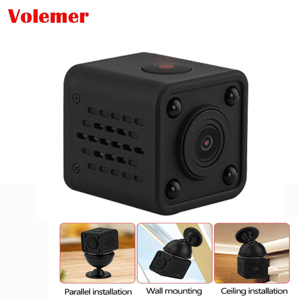 Q9 WiFi Wireless Camcorder Mini Pocket Camera 720P HD Handhold Digital Cameras Portable DV Recorder 120 Degree Angle View Camera