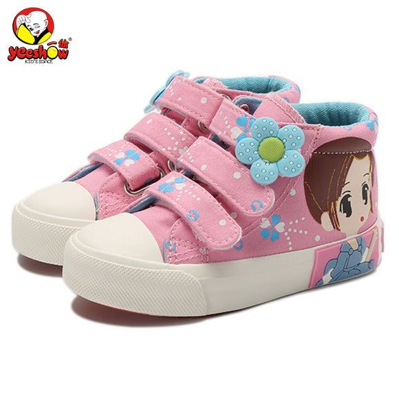 2018 New Spring Kids Canvas Sneakers Brand Children Casual Shoes Denim Girls Princess Shoes Student Flat Boots
