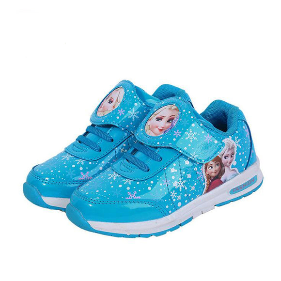 Elsa shoes Girls shoes Cartoon Brand Elsa Anna Kids Sneakers Snow Queen Shoes For Girls Sports Casual Shoes