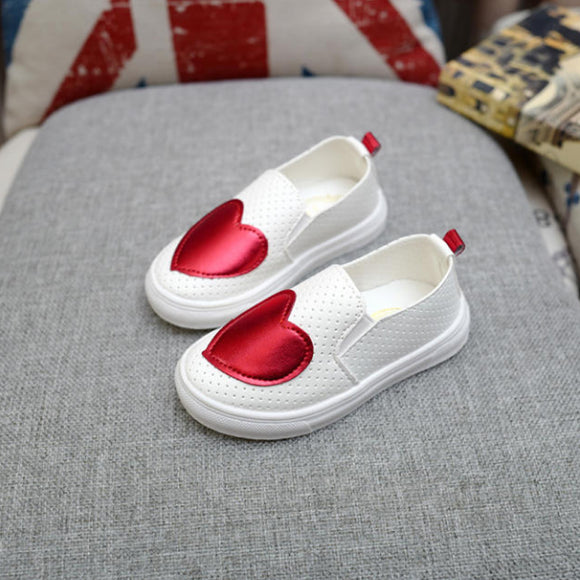 2018 New Children Sneakers Spring Autumn Kids School Shoes For Toddler Girls Flats Casual Tennis Breathable White Leather Shoes