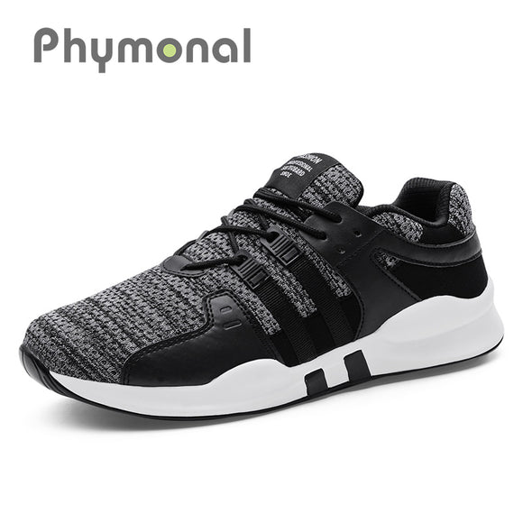 Phymonal Brand 2018 Running Shoes Sneakers Men Trending Mesh Breathable Athletic Sport Mens Shoes Male Black Gray Big Size 31