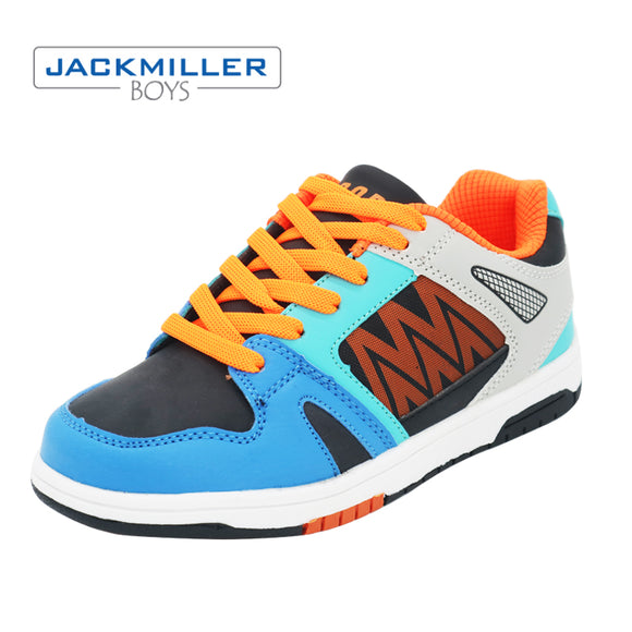 Jackmillerboys Running shoes Sports Sneakers Boys Children fashion outdoor casual kids shoes walking lace-up blue size 32-36