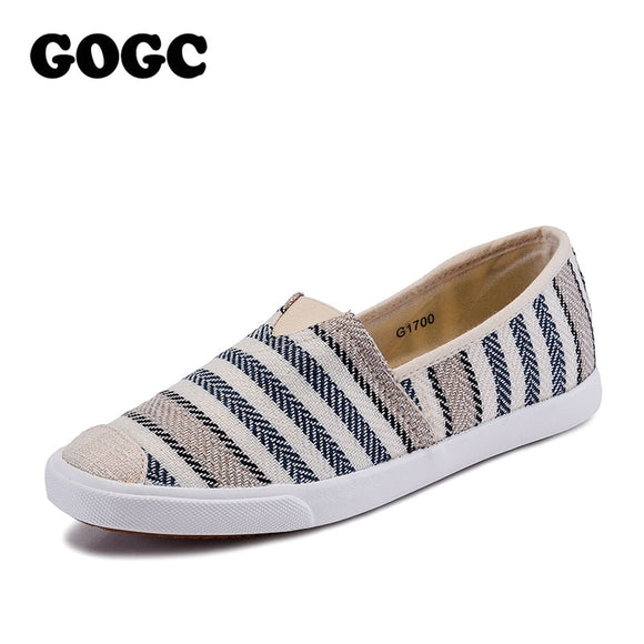 GOGC 2018 Fashion Canvas Shoes Slipony Women Footwear Female Comfort Slipony Women Shoes Casual Shoes Sneakers Women