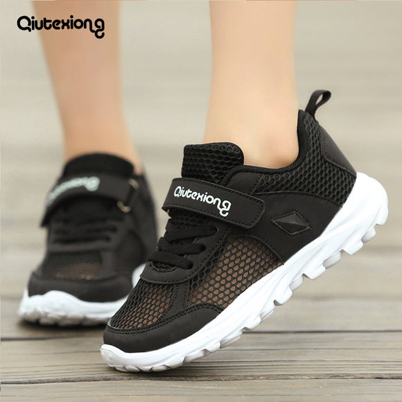 Boys' sneakers 2018 new summer shoes kids trainers Mesh breathable boy canvas shoes 5~6~7~8~10~13 year Flat Light running shoes