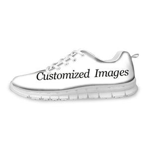 FORUDESIGNS Flat Shoes Women Occupational Therapy Printing Sneakers for Female Breathable Mesh Sneakers Teen Girls Kawaii Flats