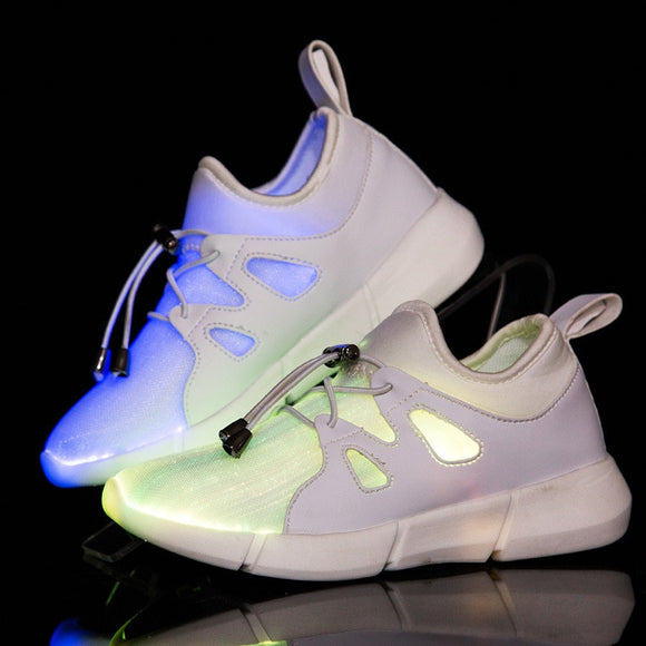 KINE PANDA USB Charger Glowing Sneakers Led Children Lighting Shoes Kids Teens Boys/ Girls illuminated Luminous Sneaker 25-35