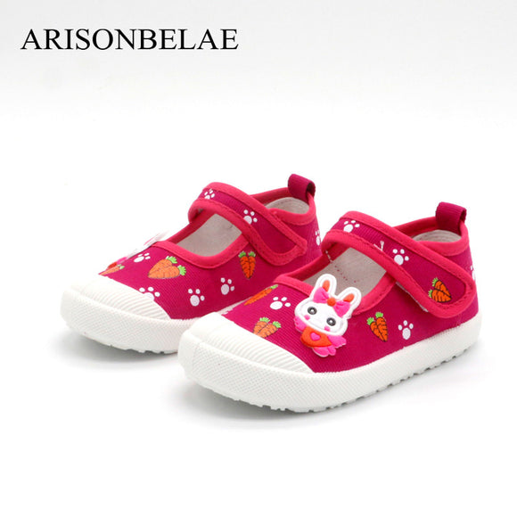 Sneakers Shoes Girls Brand Floral Animal Rabbit Casual Sport Kids Autumn Breathable Sneakers Flat School Footwear Children Shoes