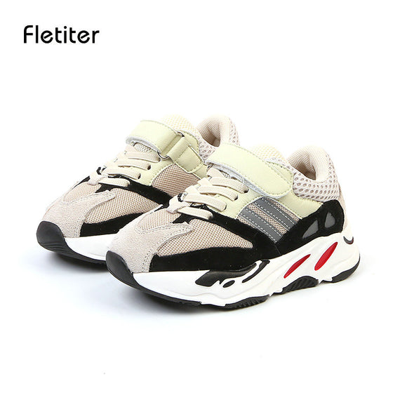 Fletiter Children Shoes Boys Sneakers Girls Sport Shoes Fashion Child Leisure Trainers Leather Casual Shoes Kids Running 28763