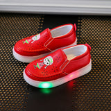 Sinered Spring 2018 girls glowing casual shoes baby children LED fashion sneakers kid's lovely cartoon shoes for kids size 21-25