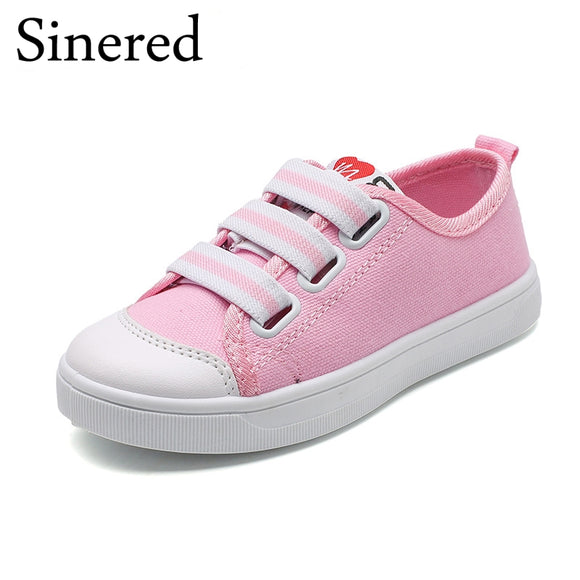 Sinered 2018 Spring Children's canvas shoes girls boys casual sport shoes teenage students fashion sneakers for kids