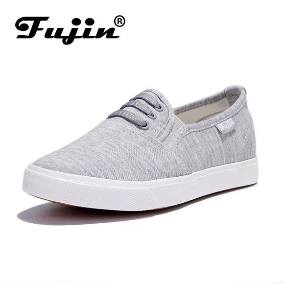 Fujin canvas shoes Women's spring autumm shoes 2018 fshion sneakers solid sewing adult canvas shoes woman fabric sapato feminino