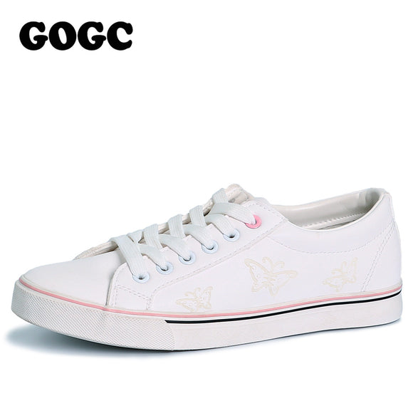 GOGC 2018 Brand Flat Shoes Women Breathable Autunm Summer Woman Slipony Soft Loafers Lady Casual Shoes Women's Vulcanize Shoes