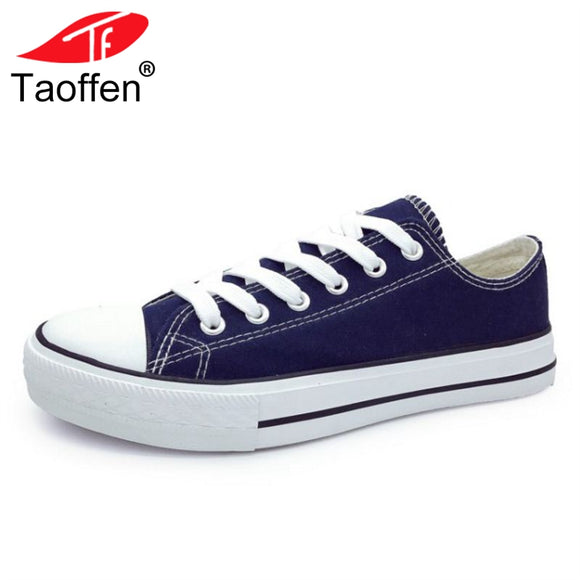TAOFFEN Women Vulcanized Shoes Round Toe Cross Strap Women Shoes Fashion Simple Shoes For Holidays Daliy Footwear Size 35-44