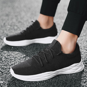2018 Hot sale Light-weight Running Shoes Men Sport Shoes Athletics lace up Mens Black Sneakers Breathable Man Shoes White/red