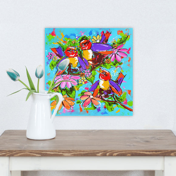 HDARTISAN Vrolijk Schilderij Wall Art Canvas Painting Animal Birds and FLowers Picture Prints Home Decor No Frame Dropshipping