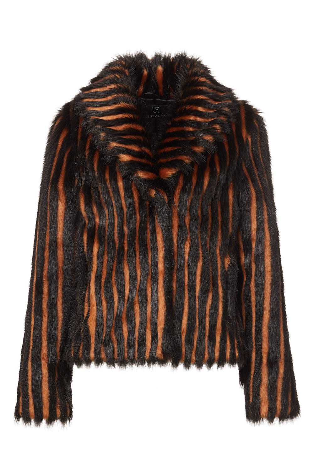 Striped Faux Fur Jacket