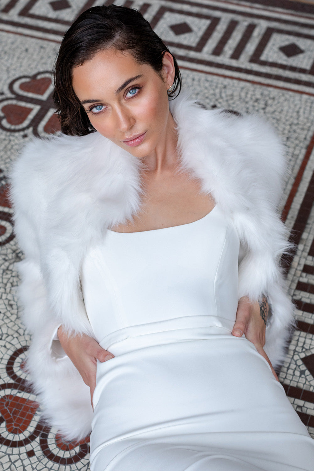Fur Delish Jacket in Ivory