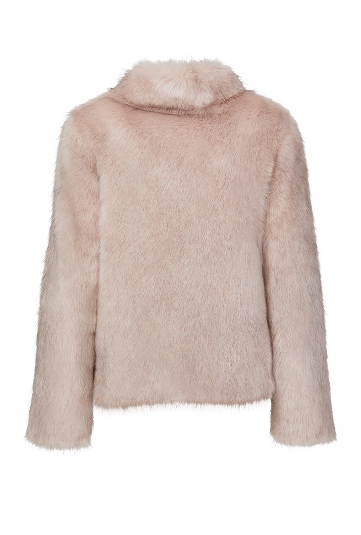 Fur Delish Jacket in Dusty Pink