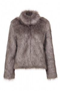Fur Delish Jacket in Silver Moon