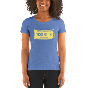 Women's Scranton PA Vintage License Plate T-shirt