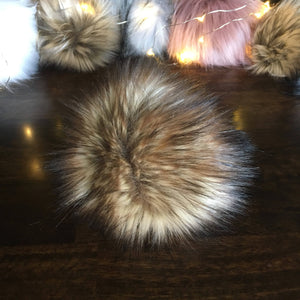 Golden Bear Handmade Faux Fur Vegan Pom Pom