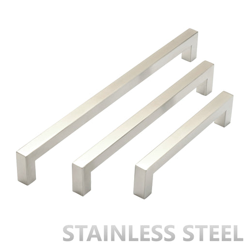 Stainless Steel Square Bar Cabinet Pull Handles