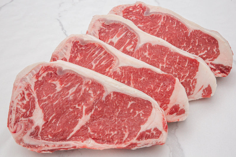 Dry-Aged USDA Prime Black Angus Beef Bone-In NY Strip Steak, Center Cut - PAT LAFRIEDA HOME DELIVERY