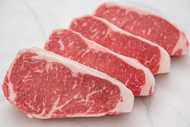 Fresh USDA Prime Black Angus Boneless NY Strip Steak, Center Cut - PAT LAFRIEDA HOME DELIVERY