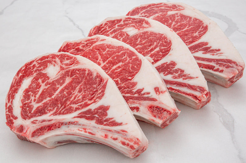 Dry-Aged USDA Prime Black Angus Beef Bone-In Rib Steak, Center Cut - PAT LAFRIEDA HOME DELIVERY