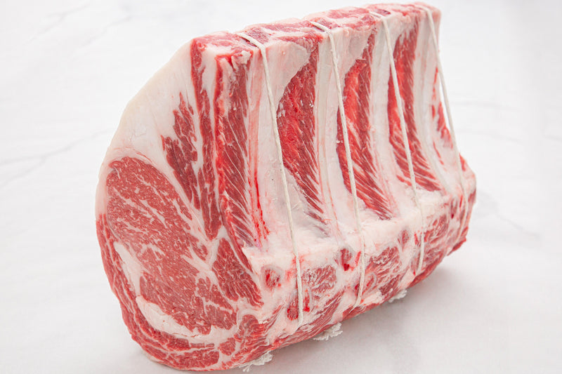 Fresh USDA Prime Beef Black Angus Standing Rib Roast, Bone In - PAT LAFRIEDA HOME DELIVERY