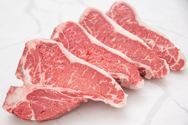 Dry-Aged USDA Prime Black Angus Beef T-Bone Steak - PAT LAFRIEDA HOME DELIVERY