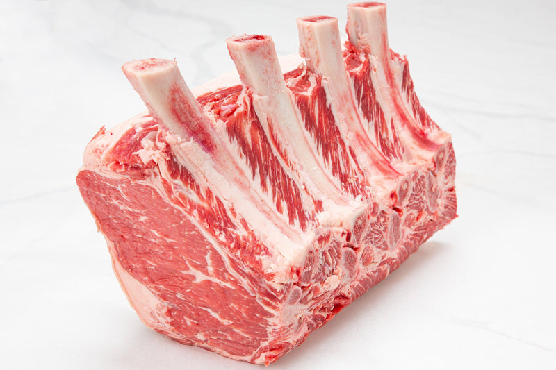 Dry-Aged USDA Prime Beef Black Angus Standing Rib Roast, Frenched - PAT LAFRIEDA HOME DELIVERY