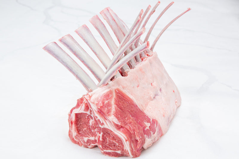 Fresh Australian Rack of Lamb, Frenched, 8 ribs (28 - 30 oz) - PAT LAFRIEDA HOME DELIVERY