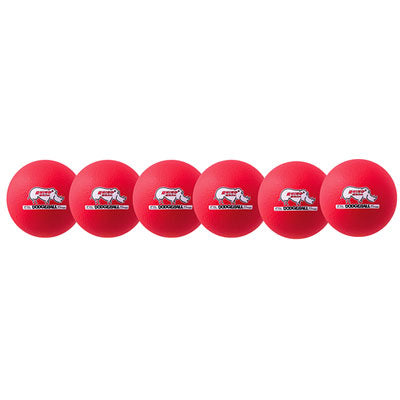 Rhino Skin Low Bounce Dodgeball Set Neon Red - 6 inch