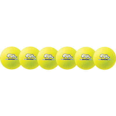 Rhino Skin Low Bounce Dodgeball Set Neon Yellow - 6 inch