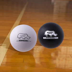 Rhino Skin Dodgeball Set Black/White - 7 inch