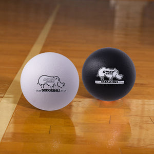 Rhino Skin Dodgeball Set Black/White- 8 inch