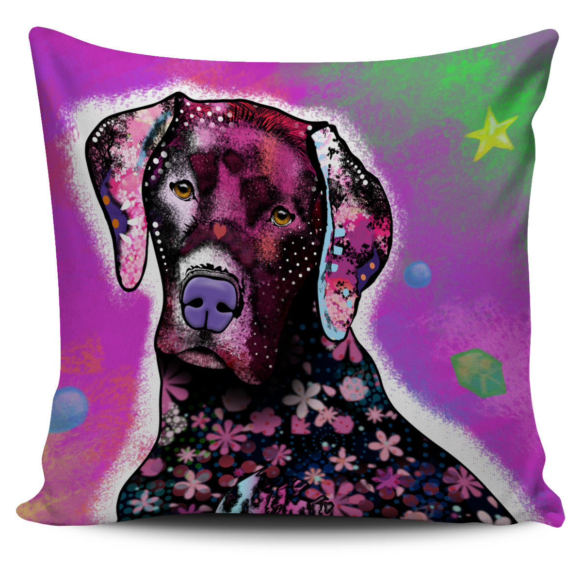 Dark Pink Dog Pillow Cover