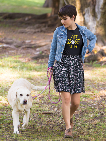 Life With Dogs Is Love Tee