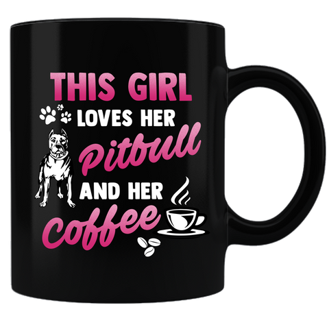 Love Pitbull & Coffee Mug
